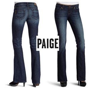 Paige Dark Wash Rinse Laurel Canyon Boot Cut jeans